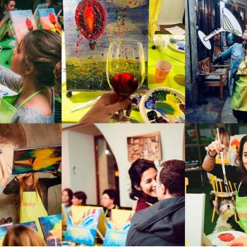 Painty Party - рисуем вместе за бокалом вина!